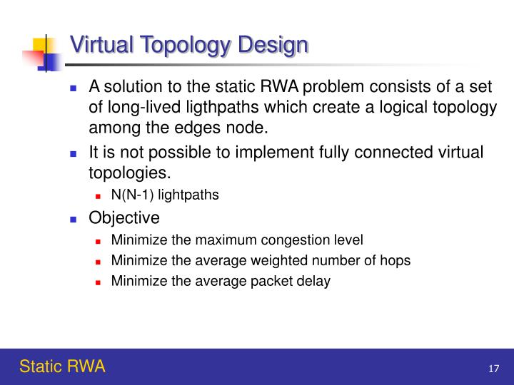 Virtual Topology Design