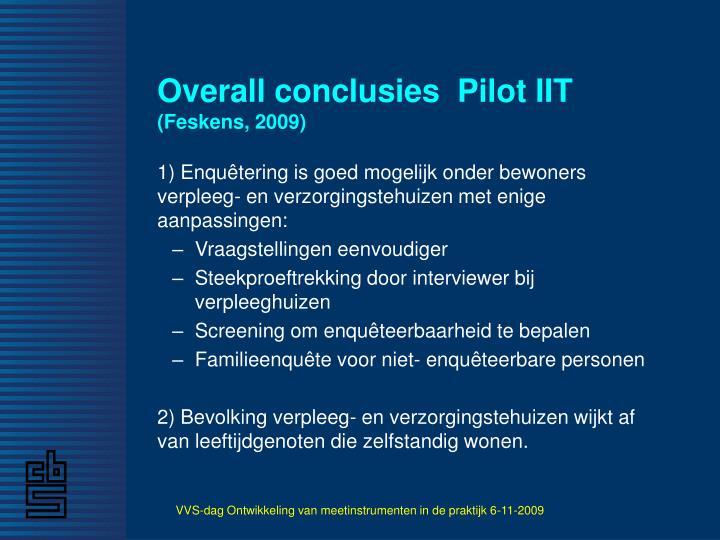Overall conclusiesPilot IIT