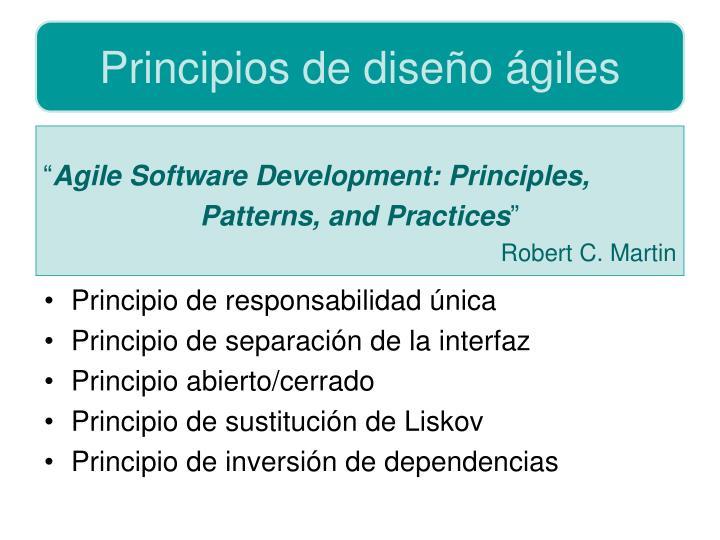 Principios de diseño ágiles