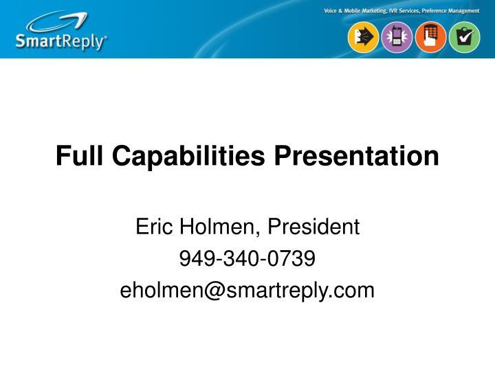 Full Capabilities Presentation