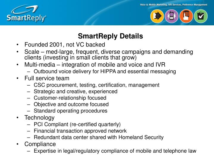 SmartReply Details