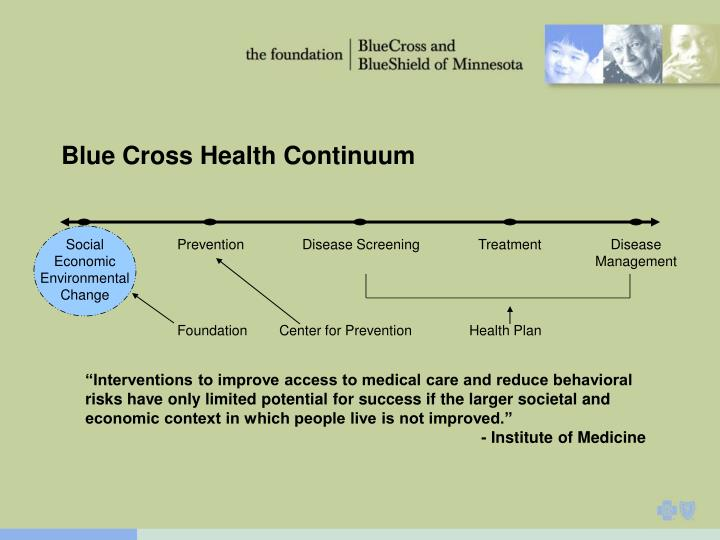 Blue Cross Health Continuum