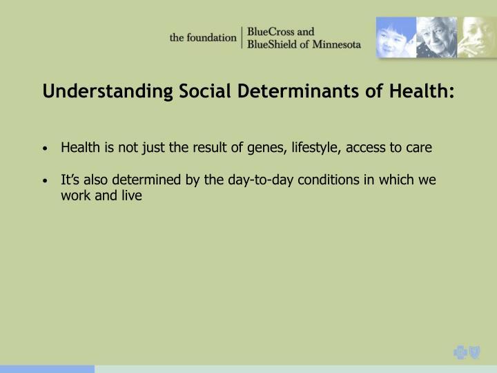 Understanding Social Determinants of Health: