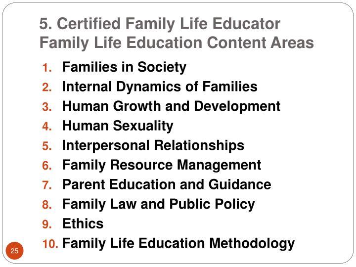5. Certified Family Life Educator