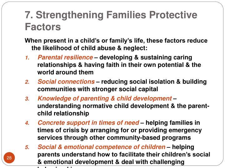 7. Strengthening Families Protective Factors