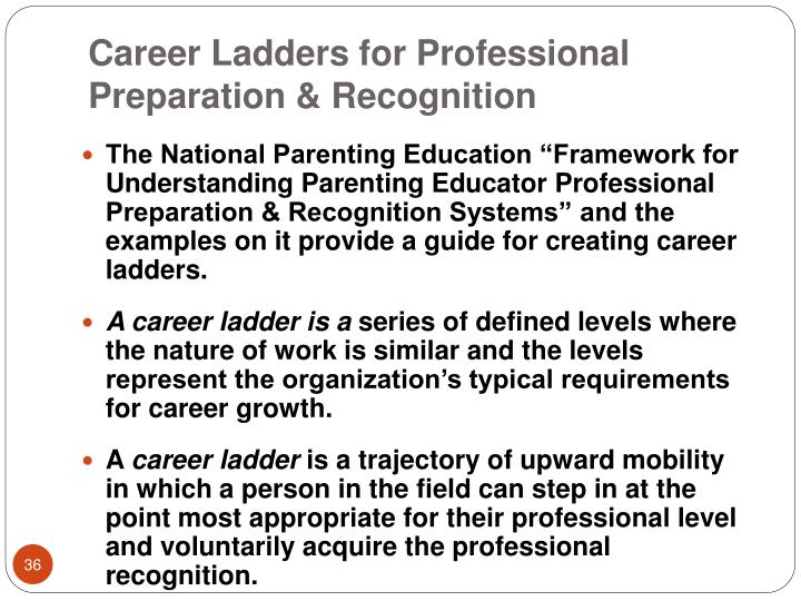Career Ladders for Professional Preparation & Recognition
