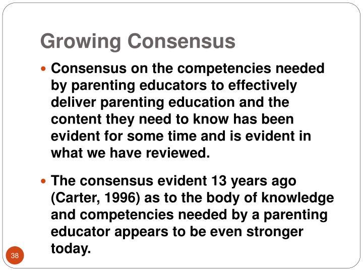 Growing Consensus