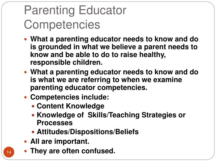 Parenting Educator Competencies