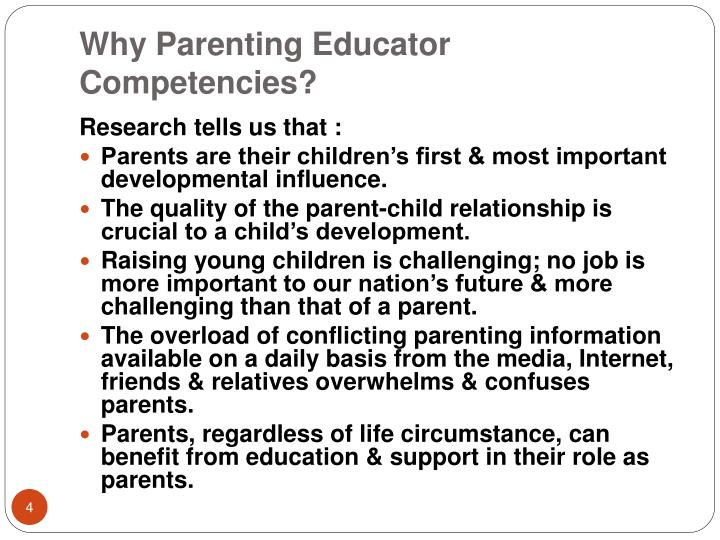 Why Parenting Educator Competencies?