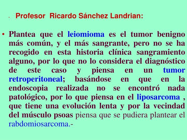 Profesor  Ricardo Sánchez Landrian:
