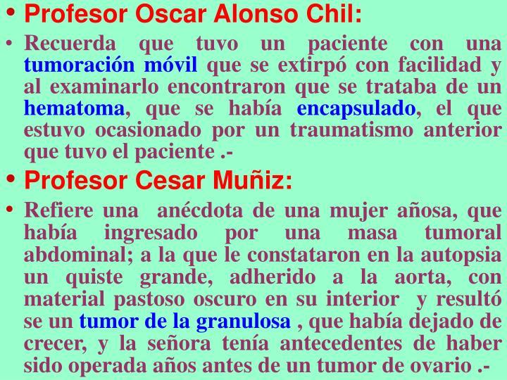 Profesor Oscar Alonso Chil: