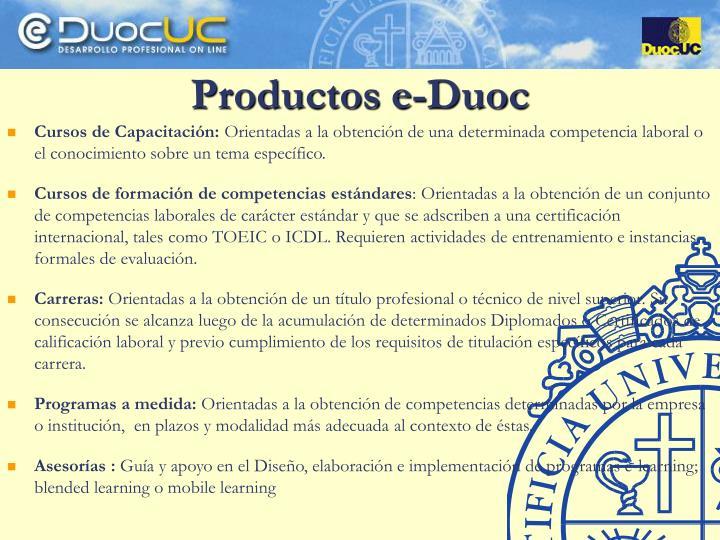 Productos e-Duoc