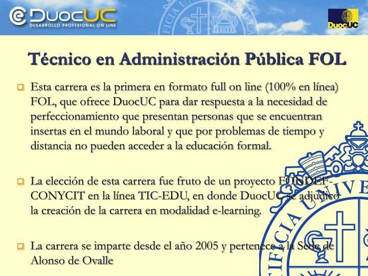 Técnico en Administración Pública FOL