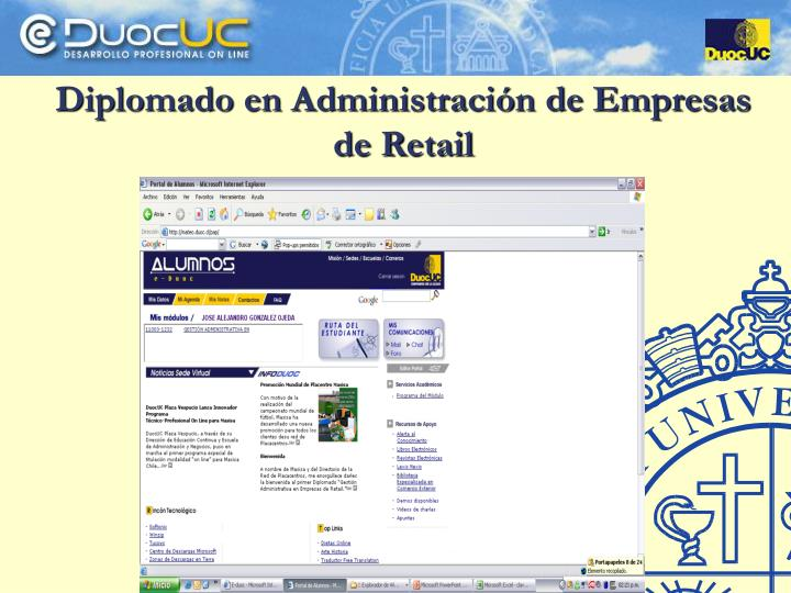 Diplomado en Administración de Empresas