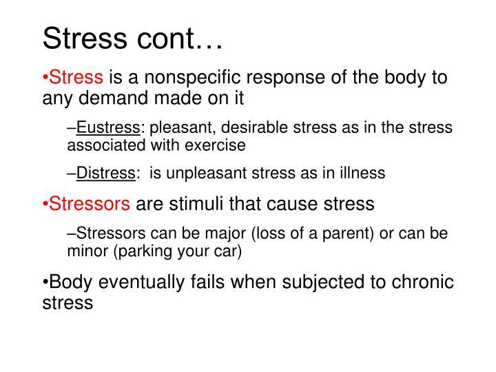 Stress cont…