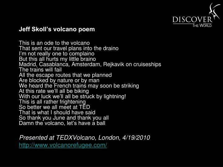 Jeff Skoll's volcano poem