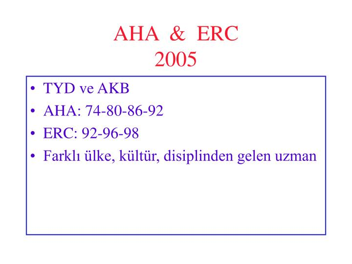 AHA  &  ERC