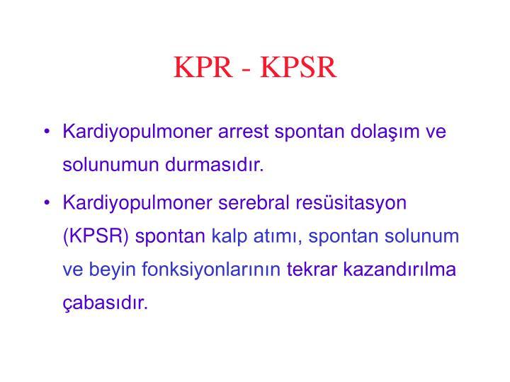 KPR - KPSR