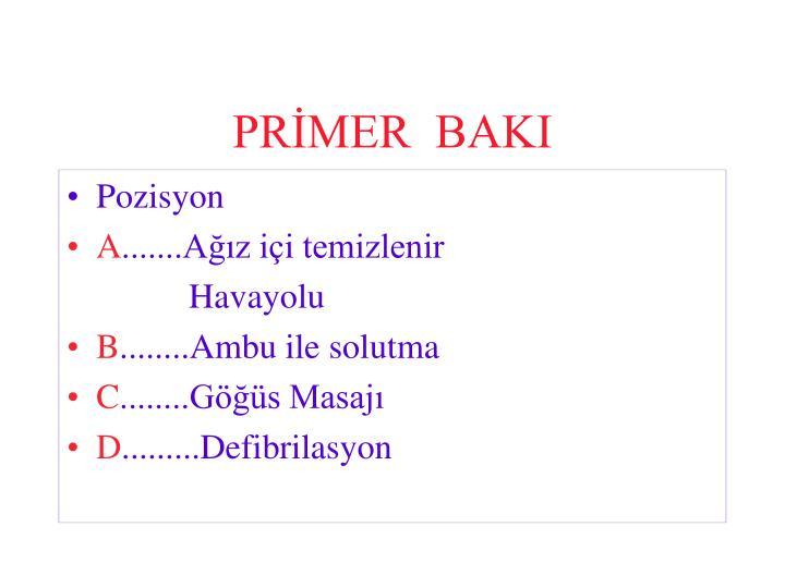 PRİMER  BAKI