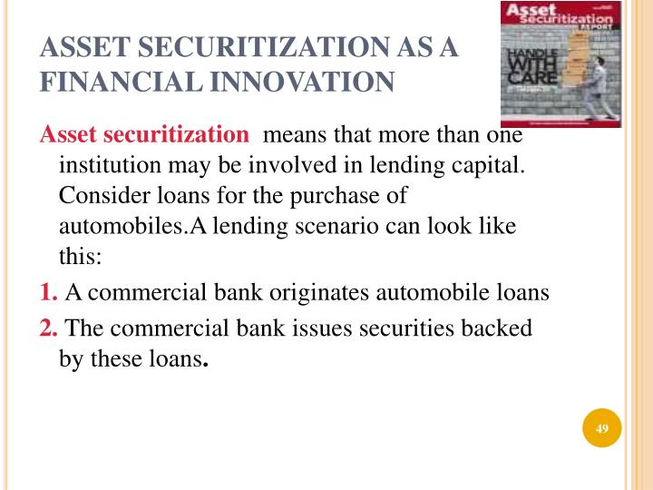 ASSET SECURITIZATION AS A FINANCIAL INNOVATION