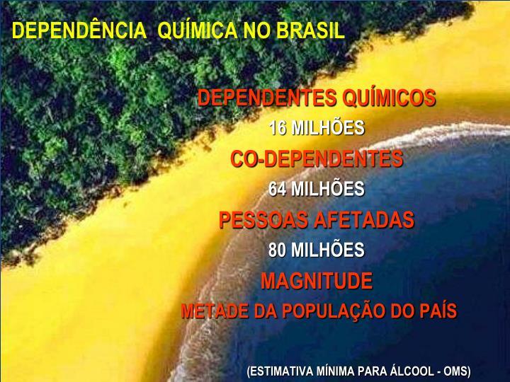 DEPENDÊNCIA  QUÍMICA NO BRASIL