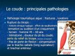 le coude principales pathologies