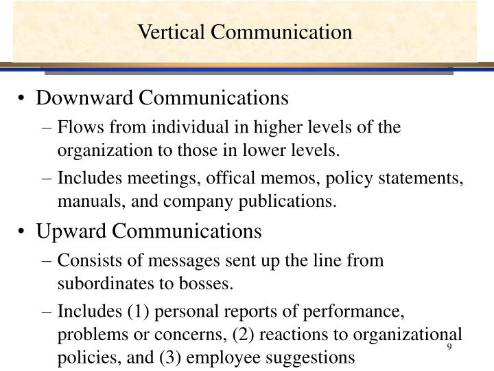 Vertical Communication