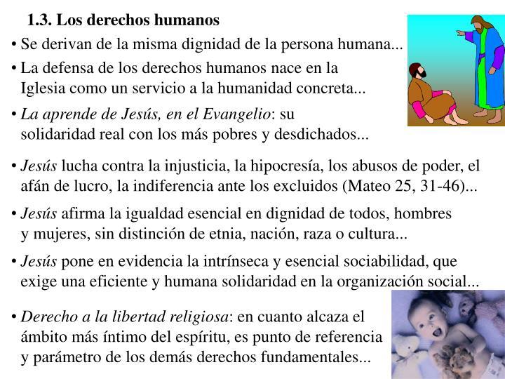 1.3. Los derechos humanos
