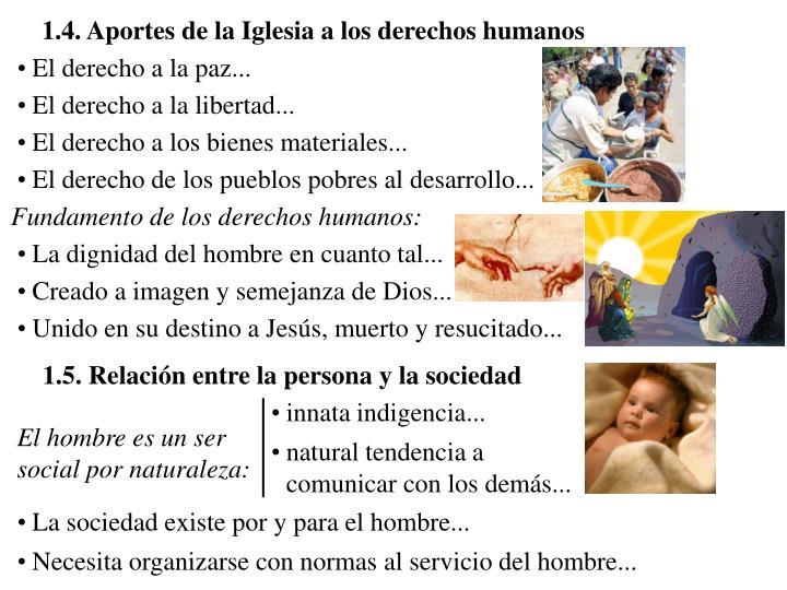 1.4. Aportes de la Iglesia a los derechos humanos