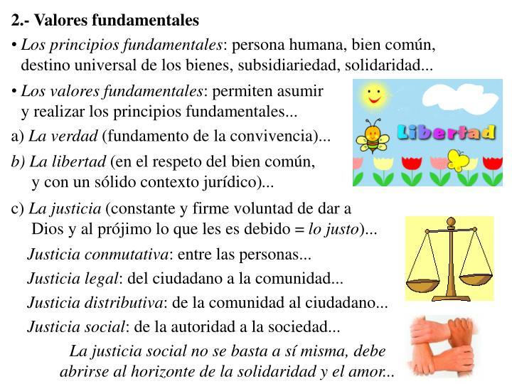 2.- Valores fundamentales