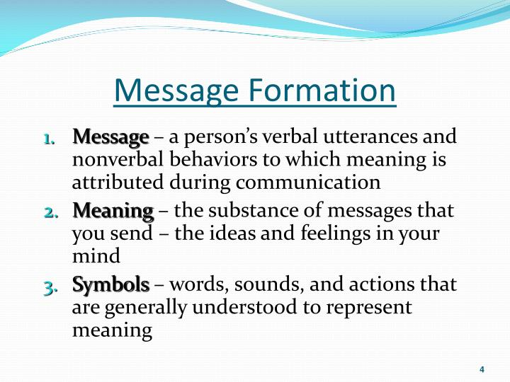 Message Formation