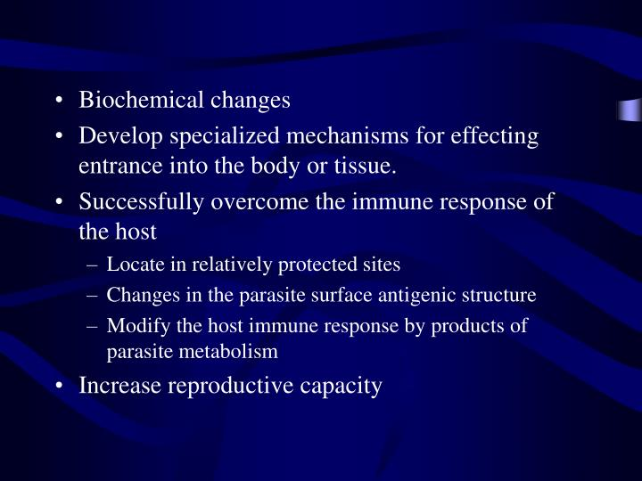 Biochemical changes