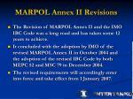 marpol annex ii revisions