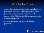 still a lack of data2