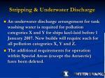 stripping underwater discharge