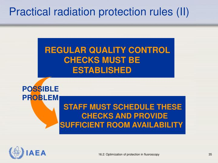 Practical radiation protection rules (II)