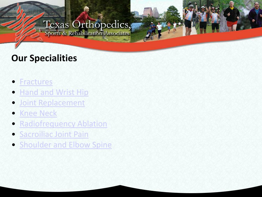 Our Specialities