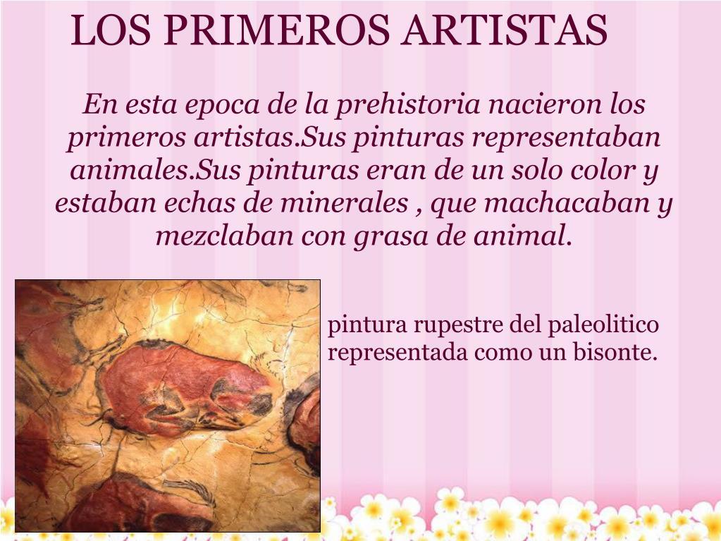 LOS PRIMEROS ARTISTAS