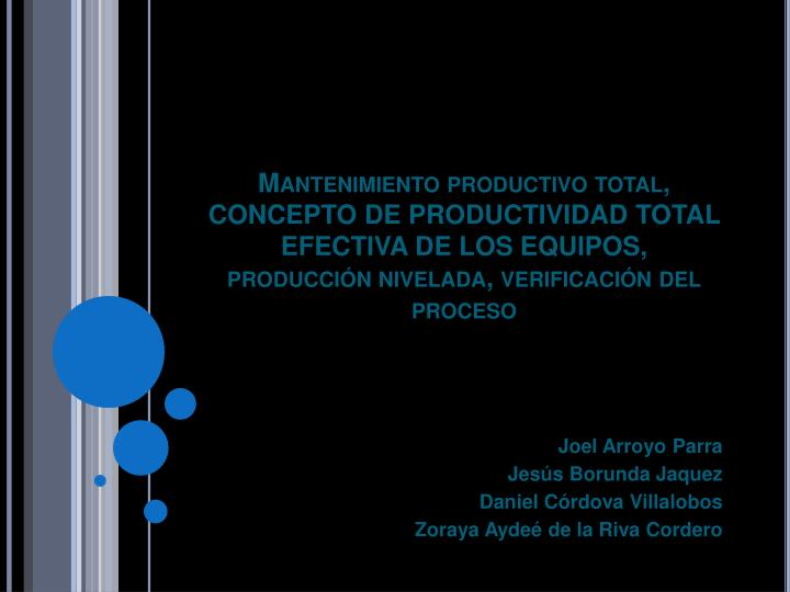 Mantenimiento productivo total,
