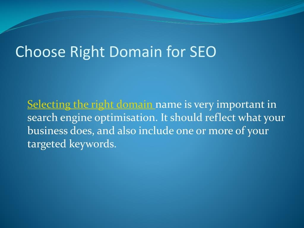 Choose Right Domain for SEO