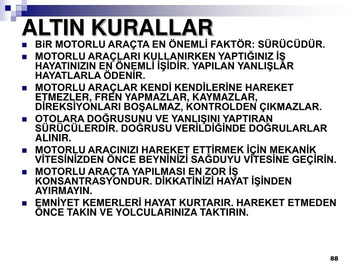 ALTIN KURALLAR