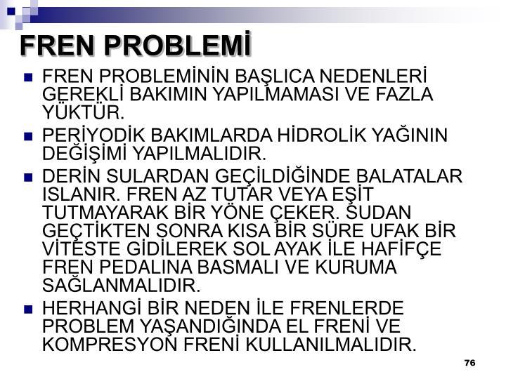 FREN PROBLEMİ
