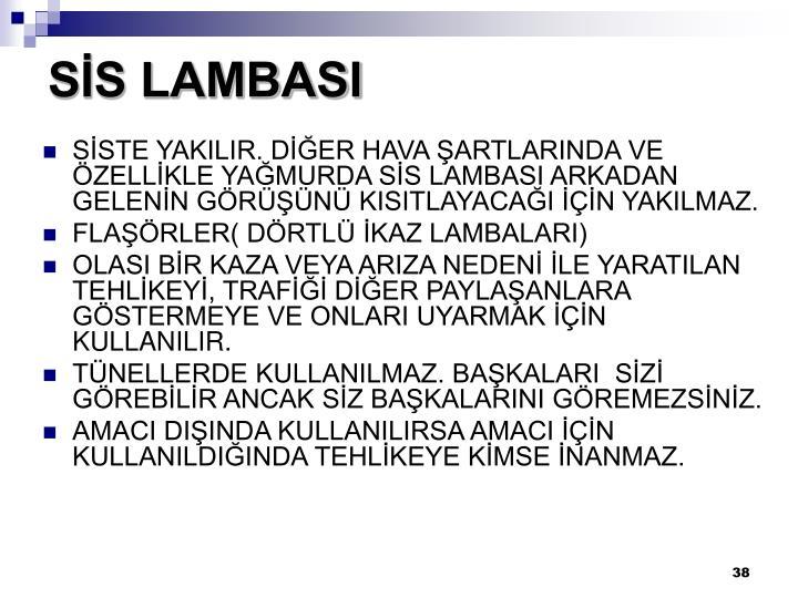 SİS LAMBASI