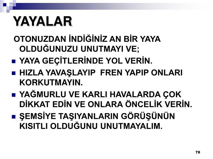 YAYALAR
