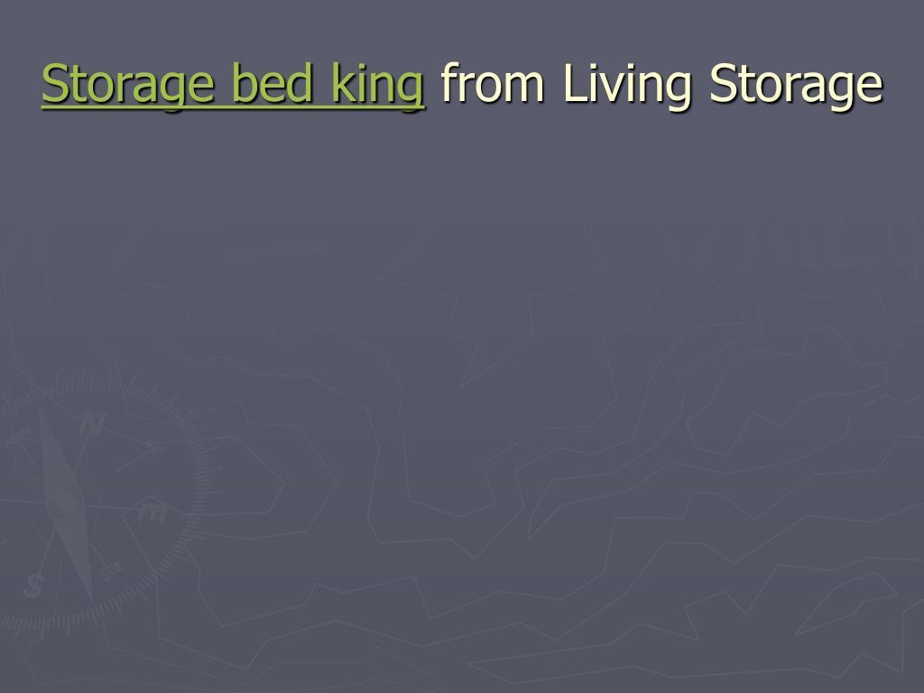 Storage bed king