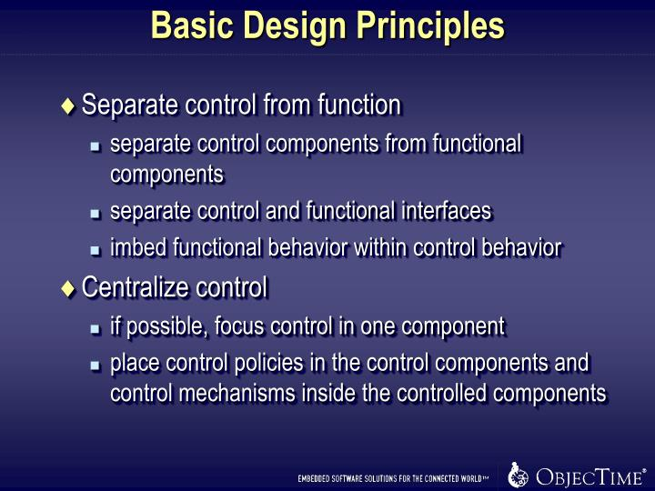 Basic Design Principles
