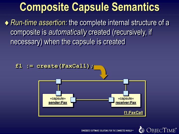 Composite Capsule Semantics