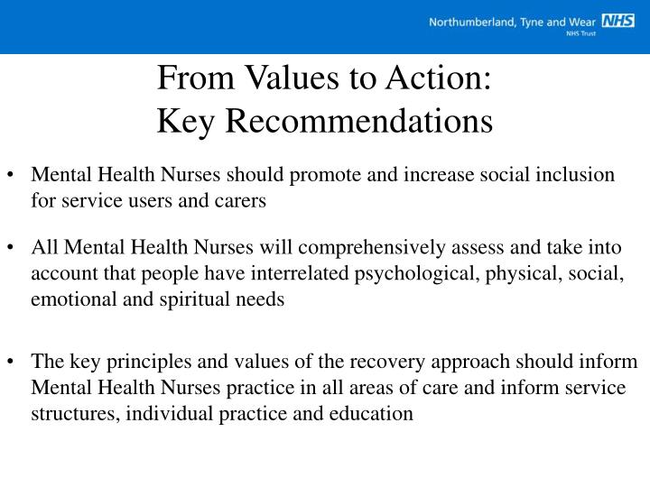 From Values to Action: