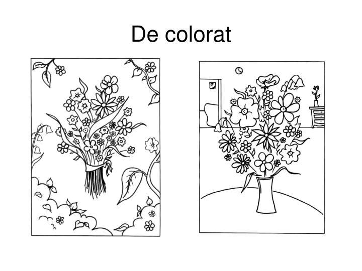 De colorat