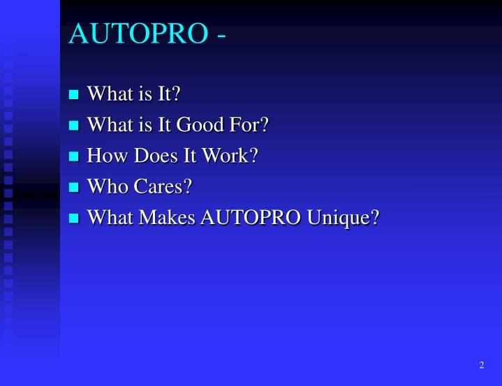 AUTOPRO -